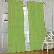 onestop s lime green voile sheer panel d curtain for your window fully stitched and hemmed