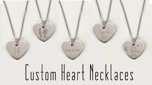 personalized heart necklaces jewelry by engraved gift collection