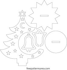 free laser cut christmas decoration craft pattern