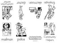 community helper preschool printables  community helper minibook