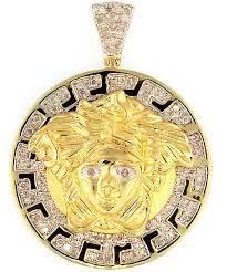 king johnny johnny s custom jewelry gold polished 0 50ct diamond versace medusa