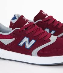 new balance shoes red. new balance numeric 598 shoes - red / grey