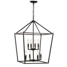8 bulb oil rubbed bronze lantern metal led pendant