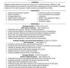 Material Handler Resume Examples Material Handler Resume Material