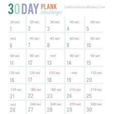30 Day Plank Challenge Chart Pdf Bedowntowndaytona Com