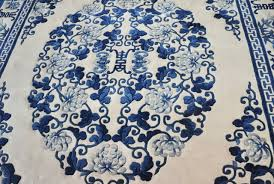 blue and white persian rugs