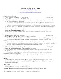 Example Of Nursing Resumes Oncology Nurse Resume Free Letter