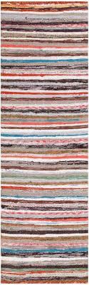 vintage scandinavian swedish rag runner rug 46656