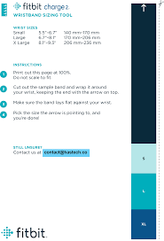 Fitbit Alta Hr Size Chart Sizing Guide