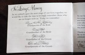 Wedding Program Wording Thank You Remembrance Criolla Brithday