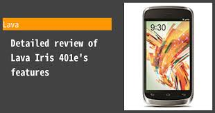 Lava Iris 401e - Full phone specifications