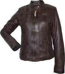las leather jacket fashion sheepskin nappa leather colour dark brown