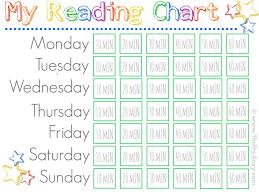 Printable Reading Chart Jinxy Kids