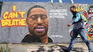 Some George Floyd Murals Are Being Defaced