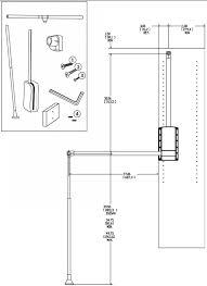 closet rod pull down system