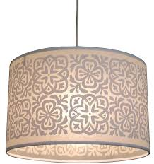 chandelier drum lamp shades inspiring barrel shade with of gray and cream flower large for