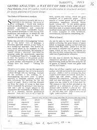 roberts genre analysis a way out of the cul de sac