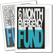 6 Month Emergency Fund Debt Payoff Visuals Savings Chart