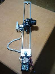 picture of diy motorized moving timelapse dolly with arduino