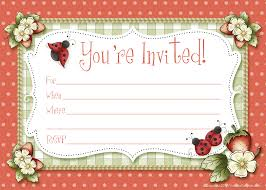 search results invitation printable party kits ladybug party invitations