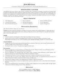 Sample High School Teacher High School Student Resume Objective