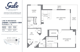 Bathroom Floor Plan The Gale Line 15 Floor Plan 2 Bed 25 Bath Floors 4 12