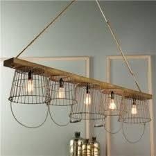 Hanging basket chandelier