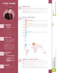 elegant mini st style resume cv template stock vector image elegant mini st style resume cv template