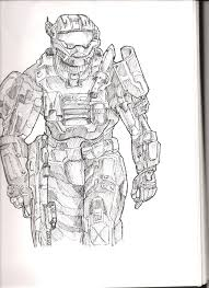 Small Picture how to draw halo reach halo reach coloring pageshalo reach jorge