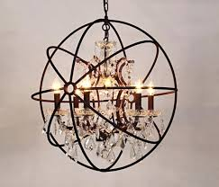 living nice orb chandelier lighting 10 table lamp black vintage crystal hanging globe rustic chandeliers light