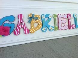 personalized letters for nursery custom wood letters for nursery hand made custom girls decor wooden letter
