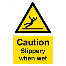 Slippery When Wet Signs Warning Safety Signs From Key Signs