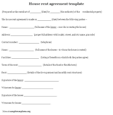 Free Printable Lease Agreement For Renting A House Free Model Rental Lease Agreement Template Victoria Sample Bharathb Co