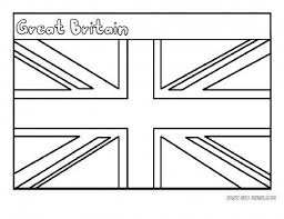 Free Printable Flag Of Great Britain Coloring Page For Kids