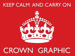 How To Make A Keep Calm Poster Keep Calm And Carry On Crown Graphic Ian Barnard
