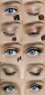simple quick natural makeup for blue eyes