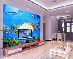 Kopen 3d Behang Custom Foto Muurschildering Zee Bodem Shell Shark