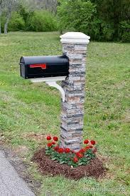 stone mailbox designs. Mailbox Makeover Stone Designs