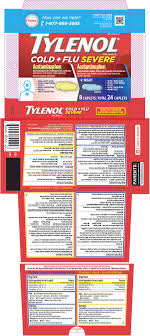 Tylenol Cold Dosage Chart Tylenol Cold Plus Flu Severe Day Night Kit Johnson