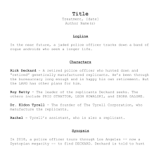 How To Write A Film Treatment Free Treatment Template