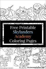 Free Printable Skylanders Academy Coloring Pages