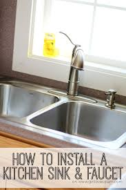 how to install a kitchen sink tutorial on girllovesglam com