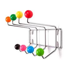 Coloured Ball Coat Rack Saturnus Coat Rack Multi Colour Red Candy 6