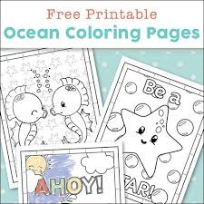 Super Cute Ocean Coloring Pages For Kids