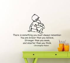 Christopher Robin Quotes Custom Winnie The Pooh Wall Decal Christopher Robin Quote Walt Disney Etsy
