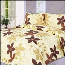 luxury super soft plain dyed printed coffee flowers double duvet cover sets