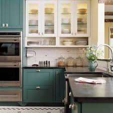 green painted kitchen cabinets. Dark Green Painting Kitchen Cabinets Decoration Painted T