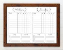 Chore Carts Reusable Chore Chart Etsy