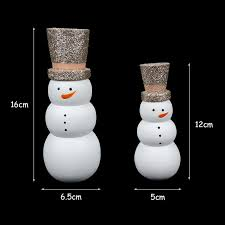 wooden snowman decoration for home party diy decor xmas 2019 happy new year gifts toys ornaments free ship outdoor holiday decorations