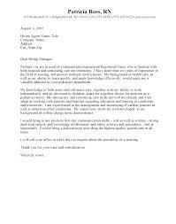 Nursing Cover Letters New Grad Nursing Cover Letter Format Nursing